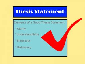 Thesis Statement The thesis can be more than one Historical